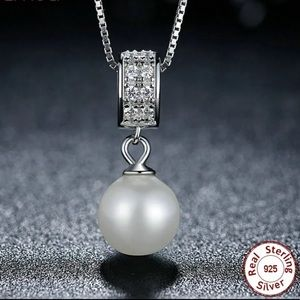 Jewelry - Sterling Silver Pearl Drop Necklace
